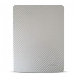 Bao da iPad 2/3/4 hiệu Kaku Carbon Fiber (bạc)