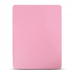 Bao da iPad 2/3/4 hiệu Kaku Carbon Fiber (hồng)
