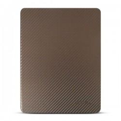 Bao da iPad 2/3/4 hiệu Kaku Carbon Fiber (nâu rêu)