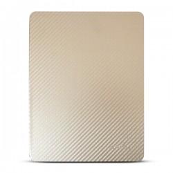 Bao da iPad 2/3/4 hiệu Kaku Carbon Fiber (vàng)