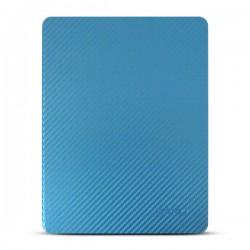 Bao da iPad 2/3/4 hiệu Kaku Carbon Fiber (xanh lam)