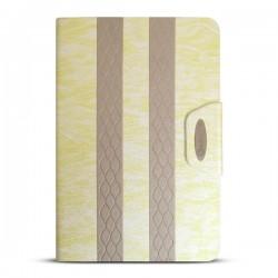 Bao da iPad Mini 2/3 kẻ sọc hiệu iKare (vàng Champagne)