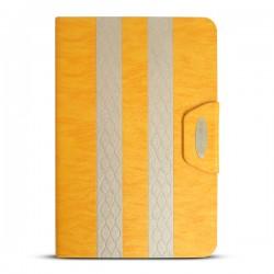 Bao da iPad Mini 2/3 kẻ sọc hiệu iKare (vàng Gold)