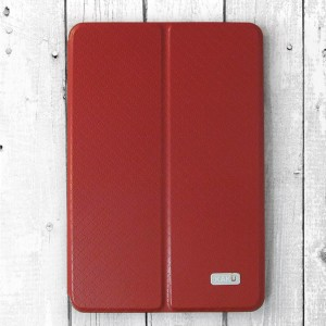 """Bao da iPad Mini 4 hiệu KAKU """"hai da"""" mới (Đỏ)"""