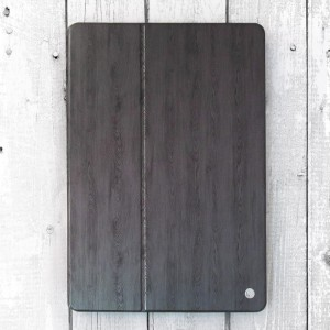 Bao da iPad Pro 12.9 inch vân gỗ hiệu OU Case (Đen)