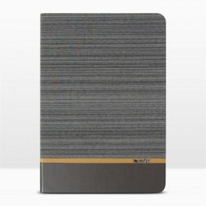 Bao da iPad 9.7 inch 2017 vân vải hiệu Kaku Brown Series (Xám)