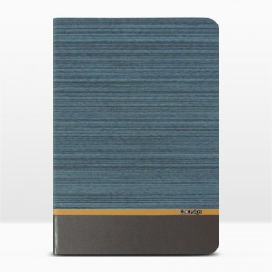 Bao da iPad 9.7 inch 2017 vân vải hiệu Kaku Brown Series (Xanh Lam)