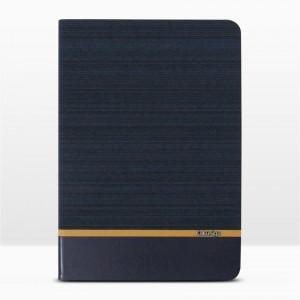 Bao da iPad 9.7 inch 2017 vân vải hiệu Kaku Brown Series (Xanh Navy)
