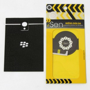 Miếng dán da Bò Blackberry Passport hiệu iSen (Đen)