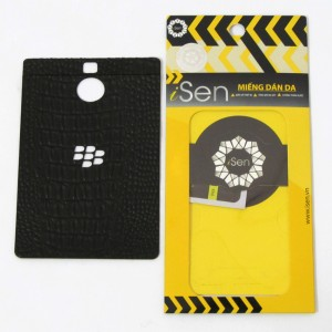 Miếng dán da Bò Blackberry Passport Silver hiệu iSen (Đen)