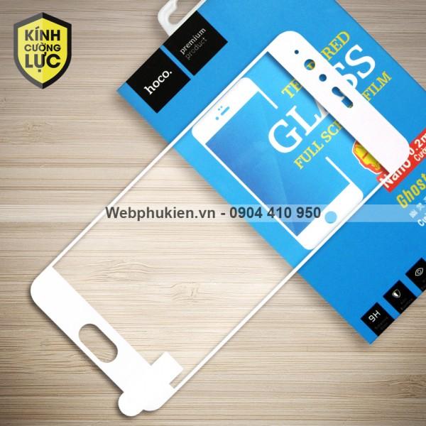 Miếng dán cường lực Huawei P10 Plus hiệu HOCO Full màn hình (Trắng)
