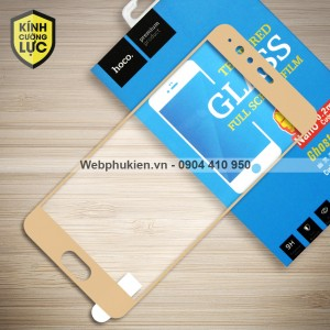 Miếng dán cường lực Huawei P10 Plus hiệu HOCO Full màn hình (Vàng)