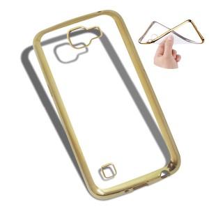 Ốp lưng trong viền màu LG K4 (Vàng)