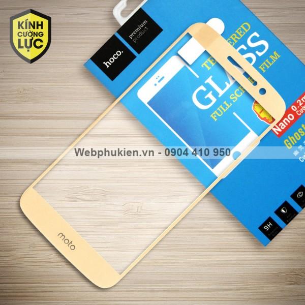 Miếng dán cường lực Motorola Moto M hiệu HOCO Full màn hình (Vàng)