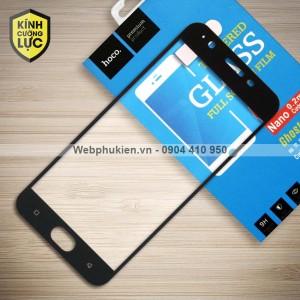 Miếng dán cường lực Oppo F3 Lite / A57 hiệu HOCO Full màn hình (Đen)