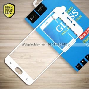 Miếng dán cường lực Oppo F3 Lite / A57 hiệu HOCO Full màn hình (Trắng)