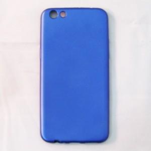 Ốp lưng dẻo Oppo F3 Plus nhung (xanh)