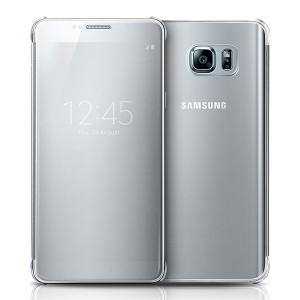 Bao da Samsung Galaxy Note 5 Clear View (bạc)
