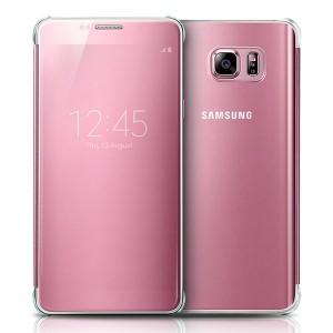 Bao da Samsung Galaxy Note 5 Clear View (hồng)
