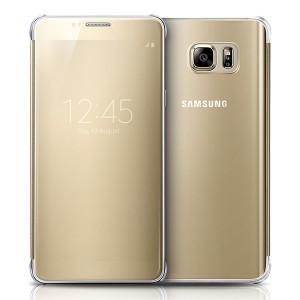 Bao da Samsung Galaxy Note 5 Clear View (vàng)