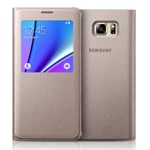 Bao da S-View Samsung Galaxy Note 5 (Made in Việt Nam) vàng