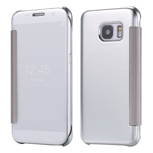 Bao da Samsung Galaxy S6 Clear View (Bạc)