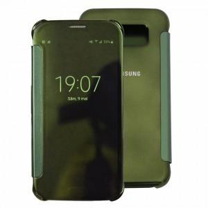Bao da Samsung Galaxy S6 Clear View (Xanh Ngọc)
