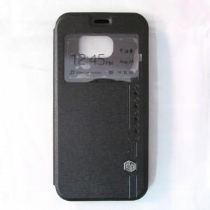 Bao da Samsung Galaxy S6 hiệu Nillkin Sparkle (Đen)