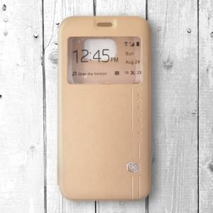 Bao da Samsung Galaxy S6 hiệu Nillkin Sparkle (Vàng)