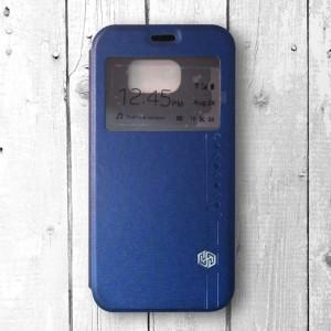 Bao da Samsung Galaxy S6 hiệu Nillkin Sparkle (Xanh)