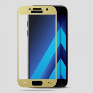 Miếng dán cường lực Samsung Galaxy A3 2017 Full màn hình (Vàng)