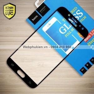 Miếng dán cường lực Samsung Galaxy J7 Pro hiệu HOCO Full màn hình (Đen)