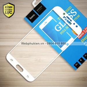 Miếng dán cường lực Samsung Galaxy J7 Pro hiệu HOCO Full màn hình (Trắng)
