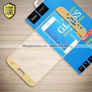 Miếng dán cường lực Samsung Galaxy J7 Pro hiệu HOCO Full màn hình (Vàng)
