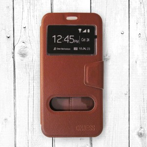 Bao da Samsung Galaxy J7 Pro hiệu OnJess (Nâu) - Case dẻo