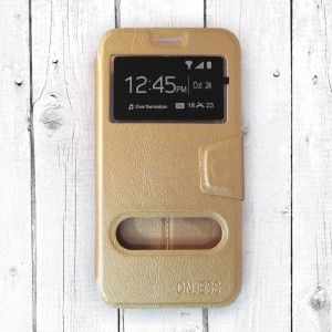 Bao da Samsung Galaxy J7 Pro hiệu OnJess (Vàng) - Case dẻo