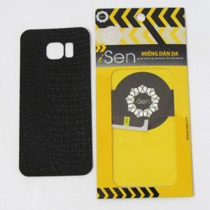 Miếng dán da Bò Samsung Galaxy S7 Edge hiệu iSen (Đen)