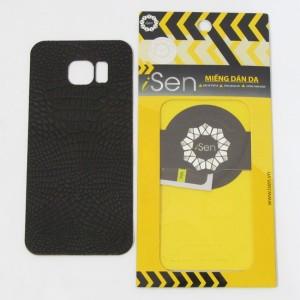 Miếng dán da Bò Samsung Galaxy S7 Edge hiệu iSen (Nâu)