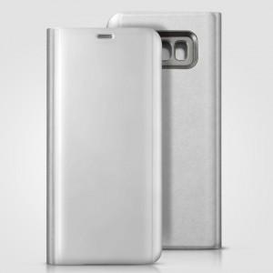 Bao da Samsung Galaxy S8 Plus Clear View Standing Silver