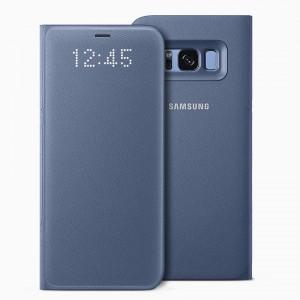 Bao da Samsung Galaxy S8 Plus LED View Blue chính hãng (xanh)