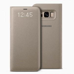 Bao da Samsung Galaxy S8 Plus LED View Gold chính hãng (vàng)