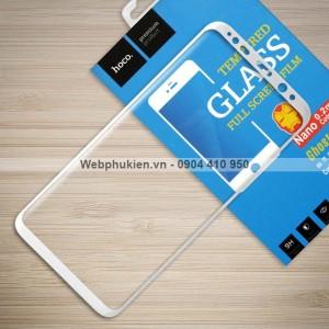 Miếng dán cường lực Samsung Galaxy S8 Plus hiệu HOCO Full (Trắng)