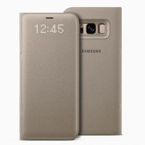 Bao da Samsung Galaxy S8 LED View Gold chính hãng (Vàng)