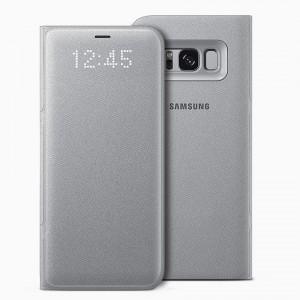 Bao da Samsung Galaxy S8 LED View Silver chính hãng (Bạc)