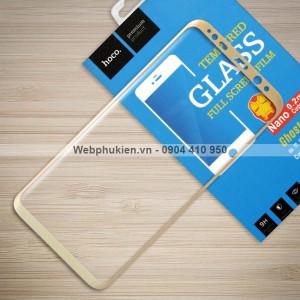Miếng dán cường lực Samsung Galaxy S8 hiệu HOCO Full màn hình (Vàng)