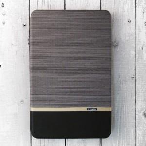Bao da Samsung Galaxy Tab E 9.6 inch T561 vân vải hiệu Lishen Brown (đen xám)