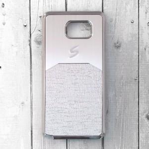 Ốp lưng Samsung Galaxy Note 5 dẻo chữ S (Bạc)