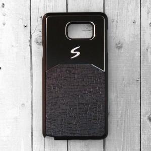 Ốp lưng Samsung Galaxy Note 5 dẻo chữ S (Đen)