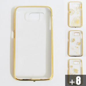 Ốp lưng Samsung Galaxy S6 xi vàng hoa văn