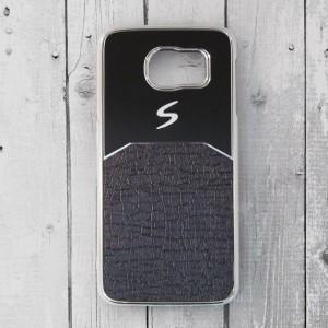 Ốp lưng Samsung Galaxy S6 dẻo chữ S (Đen)